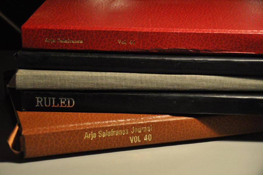 Selection of Arja Salafranca's journals